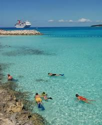 Carnival Ship in Half Moon Cay.......BEST PLACE EVER