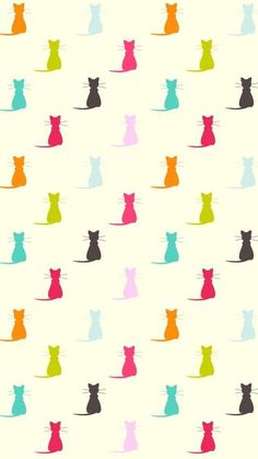 Cats Wallpaper Iphone Pattern Kitty 69 Ideas For 2019 Cats Wallpaper, Pattern Wallpaper, Wallpaper Backgrounds, Iphone Wallpaper, Phone Backgrounds, Animal Wallpaper, Disney Wallpaper, Wallpaper Quotes, Cat Pattern