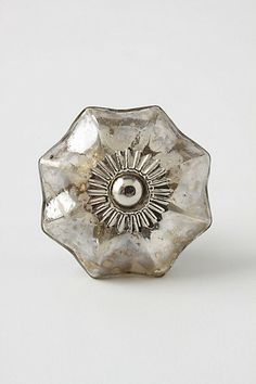 Mercury Glass Melon Knob #anthropologie