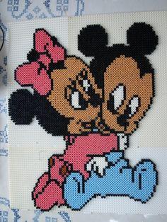 Mickey Minnie babies Bügelperlen hama beads by TITI22