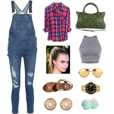 Cara Workout Plan by idafann on Polyvore featuring polyvore, fashion, style, Frame Denim, Mulberry, Balenciaga, Rolex, Chanel, Linda Farrow and Eos