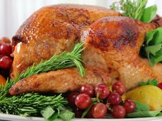 Herb and Pear Glazed Turkey #ThanksgivingFeast