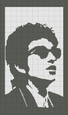 Cross Stitch Pattern Singer Bob Dylan by SilhouetteCentral on Etsy