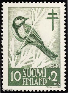 Stamps showing Great Tit Parus major, with distribution map showing range Parus Major, Great Tit, Mail Art, Designs To Draw, Postage Stamps, Birds, Gallery, Image, South America