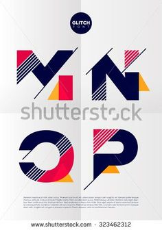 Find Typographic alphabet in a set. Contains vibrant colors and minimal design on a minimal abstract background Stock Images in HD and millions of other royalty-free stock photos, illustrations, and vectors in the Shutterstock collection. Typography Inspiration, Graphic Design Inspiration, Graphic Design Cv, Web Design, Logo Atelier, Glitch, Corporate Design, Branding Design, Logo Abstrait