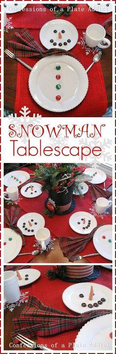 Fun & Easy Snowman Tablescape