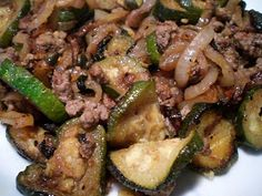 Paleo...Just Do It: Ground Beef, Zucchini, and Onion Skillet