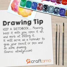 #drawingtip: Keep a sketchbook with you at all times!