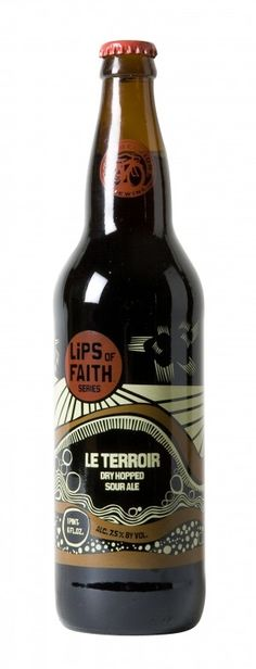 New Belgium Le Terroir: It's a sour ale with mango and peach notes. Really want to see what this one is like.
