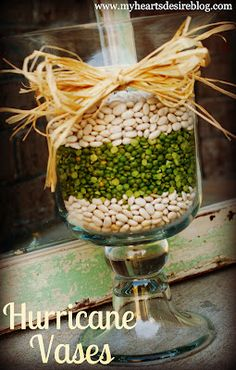 versatile ways to use hurricane vases and jars to decorate for the seasons
