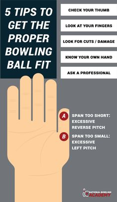 Does your ball fit you correctly? It might not be something you've thought of before, but getting the proper bowling ball fit is an important ingredient to your success. Here are some tips to make sure your bowling ball fits: Bowling Tips, Bowling Ball, Things To Know, Knowing You, Success, Thoughts, Fitness, Sports, Hs Sports