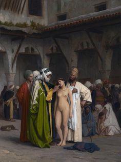 The Slave Market Jean-Léon Gérôme Oil on Canvas 1866