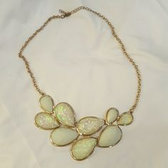 Fashionable light green gold necklace Trendy choker necklace. Bought at Nordstrom for one-time wear. In very nice condition. Jewelry Necklaces