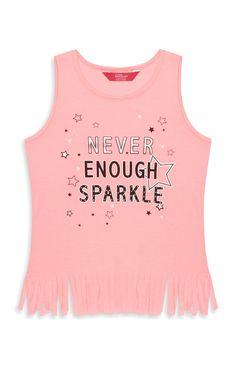 Primark - Younger Girl Sparkle Fringe Top