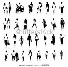 Silhouette Urban People photos, Photographie Silhouette Urban People, Silhouette Urban People images : Shutterstock.com
