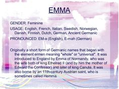 Emma My Name Meaning And Origin