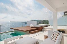 Duplex Merge with Mesmeric Views:   Steped patio design