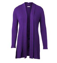 Shawl Collar Wrap in purple.
