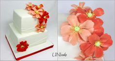 H18. Unikon kukkia. Cake with sugar poppies.