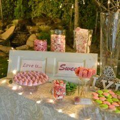 """""""Love is sweet"""" Detalle de Candy Bar en la boda de L&J"""
