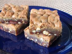 Salted Nutella Caramel Chocolate Chip Cookie Bars