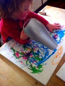 Art: melting crayons