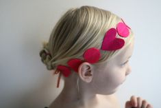 felt and elastic string + ribbon for this adorable diy headband