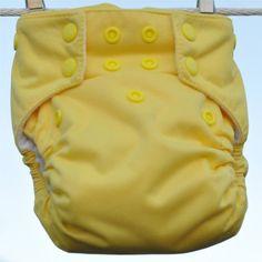 Moraki AI2 Diaper. Yellow. 7-40 lb.