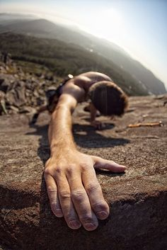 One Pinner Wrote: As a climber I can really appreciate this photo...plus this would be my dream job!!!