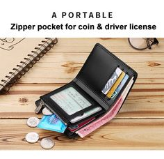 Digimon Adventure RFID Wallet Blocking Genuine Leather Wallet Zip Around Card Holder Organizer Clutch Wallet Large Capacity Purse Phone Bag For Men Women
