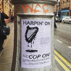 #streetartists with cop on... #handmade style #street #flyer #graffiti #art as seen in #dublin #typography #design #climatemarch #advertising #politics #ireland by queally5