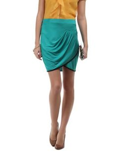 Avirate Green Knit Skirt
