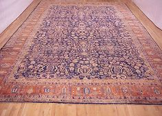 "Persian: Floral 20' 1"" x 12' 3"" Antique Mohajeran Sarouk at Persian Gallery New York - Antique Decorative Carpets & Period Tapestries"