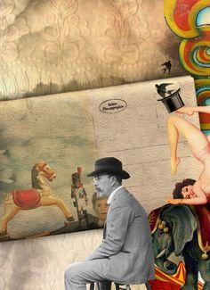 Collage - Marcia Albuquerque (para o grupo Os Colagistas - criado por Marcia Albuquerque e Mauricio Planel - FaceBook)    marcia@substancia4.com.br