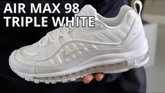 Nike Air Max 98 Size 12 White Pure Platinum 640744-106 New Triple White e5bdfc73d