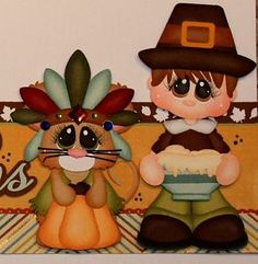 paper piecing thanksgiving | ... PMBY-JULIE-thanksgiving-border-for-scrapbook-pages-album-paper-piecing