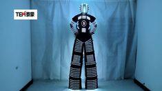 Tall Man, Tall Guys, Light Up Costumes, Led Costume, Robot Costumes, Robot Illustration, Night Club, Harem Pants, Suit Jacket