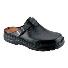 Men s Naot Fiord - Textured Black Leather Clogs 841b3397b