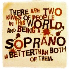 How do you know a Soprano is at your door? : annakendrick