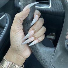 Acrylic Nail Liquid, French Manicure Acrylic Nails, Glam Nails, Fun Nails, Simple Stiletto Nails, Cute Halloween Nails, Daily Nail, Nail Supply, Nail Tutorials