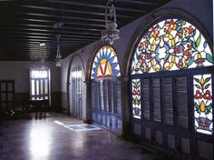Medio Puntos (colored glass transoms) and persianas- two hallmarks of cuban architecture