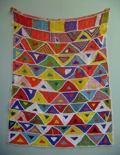 African Ba Roka People of North Sotho Tswana Origin - Beadwork apron.