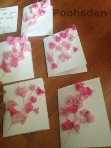 Peach and Spring Blossom Flower Card for Chinese New Year - Lunar New Year  toddler craft, preschooler craft from Poohsden