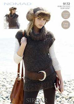 ABC Knitting Patterns - Evening Wear Knitted Tunic.