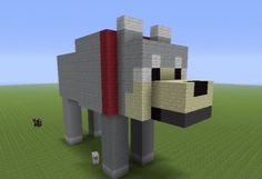 Wolf Statue - GrabCraft - Your number one source for MineCraft buildings, blueprints, tips, ideas, floorplans!
