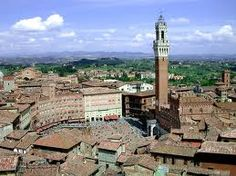 Siena, amazing city view from above