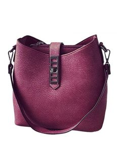 Trendy Bag, Solid Color and PU Leather Design Shoulder Bag Hobo For Women, Zipper & Hasp Closure Type                                                                                                                                                                                 More