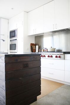Sam & Anne's Modern Rustic Kitchen Rustic Kitchen, New Kitchen, Kitchen Dining, Kitchen Ideas, Kitchen Island, Rustic Italian, Italian Home, Kitchen Spotlights, Adobe House