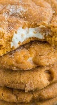 Pumpkin Cheesecake Snickerdoodles, Snickerdoodle Recipe, Pumpkin Cheescake, Pumpkin Cheesecake Cookies Recipe, Pumpkin Recipes, Cookie Recipes, Dessert Recipes, Autumn Food Recipes, Dessert Healthy