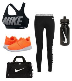 """nikes/ workout #2"" by majorfashion23 ❤ liked on Polyvore featuring NIKE"